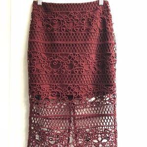 Express Crochet Pencil Skirt